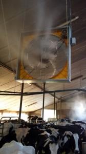 Ventilator met verneveling