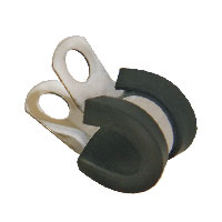 3-8 S.Steel black clamp