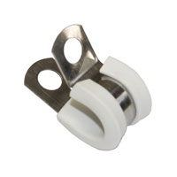 3-8 S.Steel white clamp