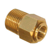 M3-8 to 3-8 tube connector