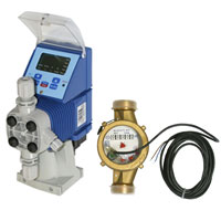 elecronic pump with water meter