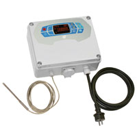 single phase thermostat with probe