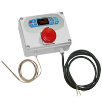 three phase thermostat with probe