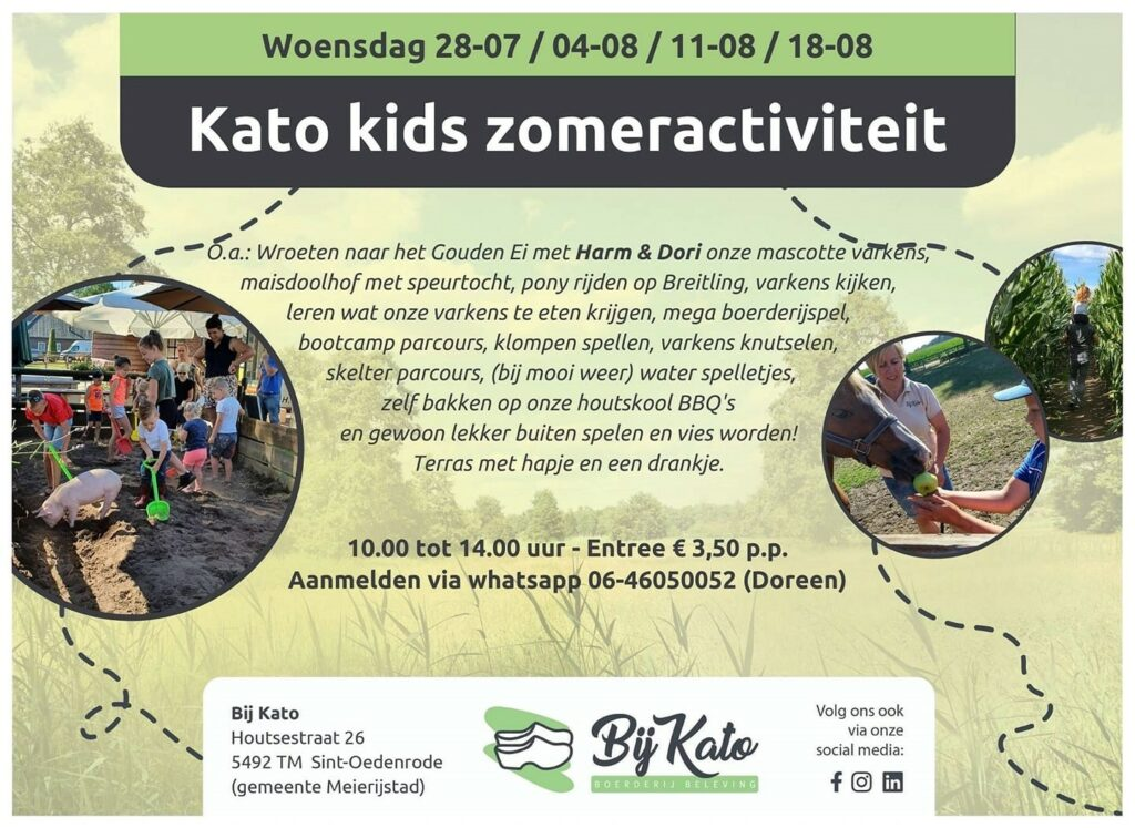 Bij Kato kids zomeractiviteit